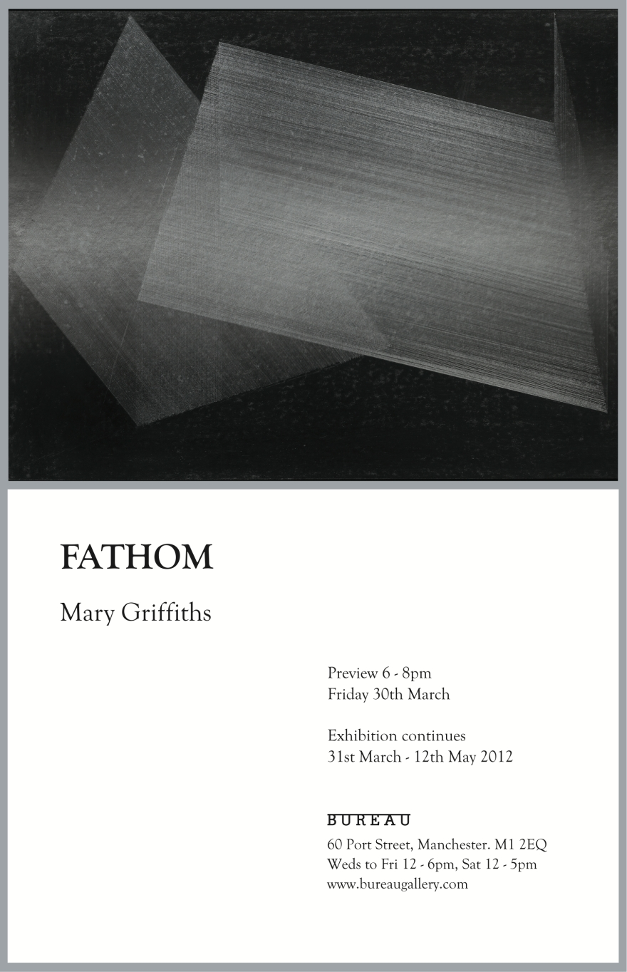 'Fathom' Mary Griffiths, invite for exhibition at Bureau