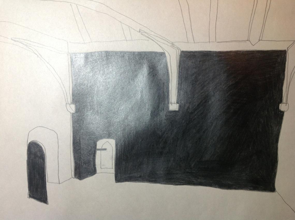 Drawing towards Llaneilain